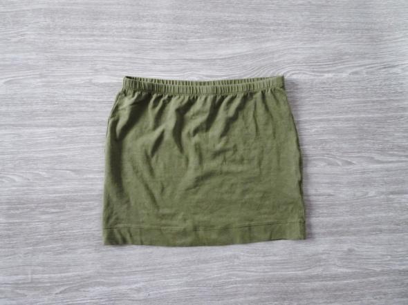 Spódnica mini khaki militarna H&M basic XS