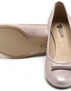 Półbuty buty ślubne nude pudrowy róż 36