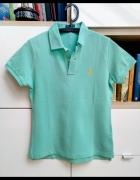 Koszulka polo Ralph Lauren oryginalny tshirt miętowy zielony niebieski