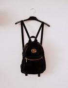 Skórzany czarny plecak Vintage A5