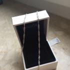 srebrny łańcuszek 925 singapurek skręcany