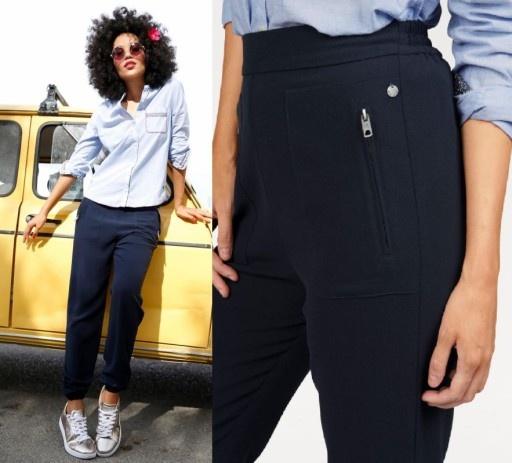 Pepe jeans granatowe spodnie S...