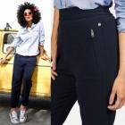 Pepe jeans granatowe spodnie S