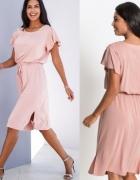 Różowa sukienka XS S...