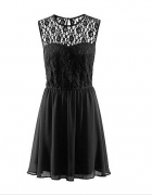 czarna koronkowa sukienka rozkloszowana 34 H&M...