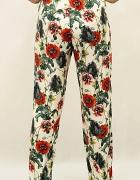 Letnie spodnie H&M maki kwiaty floral 38 hippie boho...