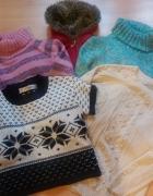 zestaw sweter golf 38 M plus gratis szal rękawiczki