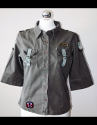 Koszula khaki z krótkim rękawem