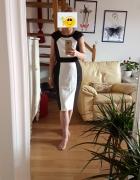 BHS sukienka wyszczuplająca 14 16