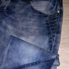 Jeansy marmurki cieniowane M