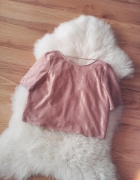 złota błyszcząca bluzka bluzeczka z dekoltem na plecach seksowna imprezowa różowe złoto rose gold dekolt wycięcie z tyłu
