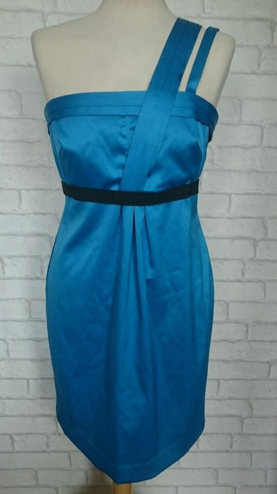 sukienka River Island 34 xs niebieska atłas