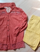 koszula boho koronka gipiura spodnie chinosy 42 XL