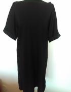 Nowa czarna sukienka Amisu rozmiar 36 z dekoltem na plecach...