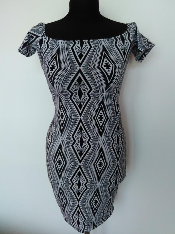 Sukienka Amisu azteckie wzory rozmiar 36