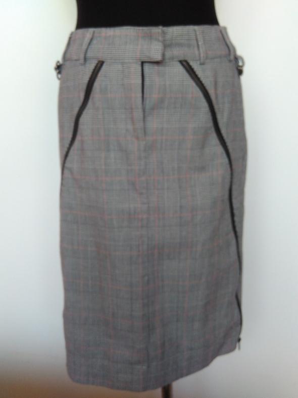 Oryginalna spódnica w kratę z suwakami HM rozmiar 36