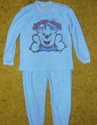 Ciepłe piżamy dziewczęce niebieskie błękitne miś 6 lat