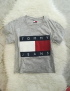 Tommy Hilfiger szara bluzka logo...