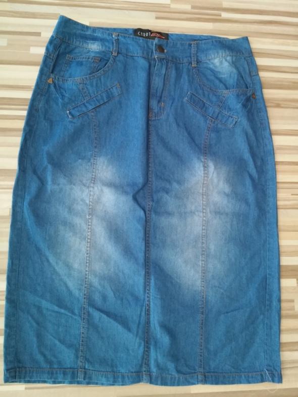 Ołówkowa jeansowa spódnica Carry...