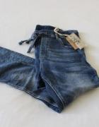 spodnie jeansowe jogging rurki s