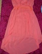 szyfonowa asymetryczna sukienka