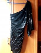 Asymetryczna sukienka Lipsy London Mgielka Piękna