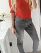 Only spodnie szare dżinsy denim ML
