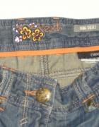 NEXT mini jeansowa spódniczka z zamkami