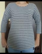 szara bluzka w paski