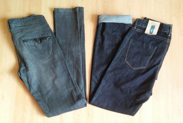 dwie pary jeansów rurki jeansy 38 M