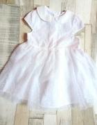 Nowa sukienka 80 chrzesy wesele 9 12 m tiul
