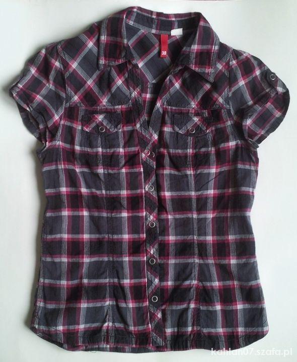 Koszula h&m w kratkę rozpinana 38 M