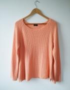 łososiowy sweter z dzianiny 42 XL