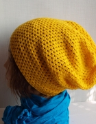 Żółta czapka beanie