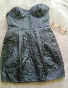 Krótka sukienka z kieszeniami