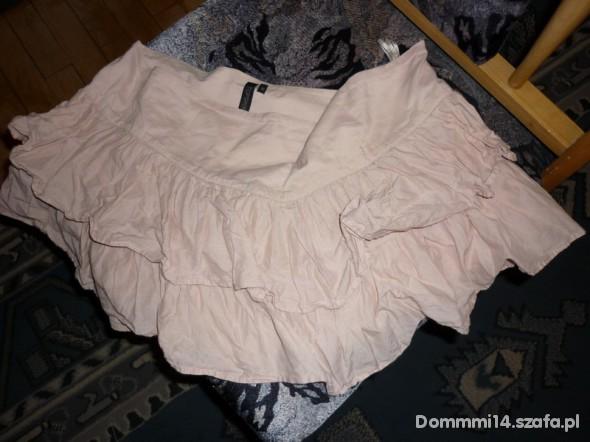 Spódnice pudrowa TOPSHOP falbanki s