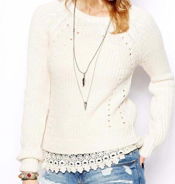 Sweter New Look koronka 36 S