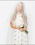 Asos welon tiul ślub ślubny opaska kwiaty 125 cm