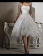 Krótka Suknia Ślubna cywilny poprawiny 38 40
