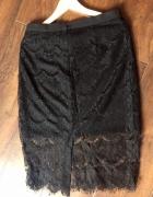 Czarna ołówkowa z koronka spódnica mohito xs...