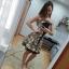 Gorsetowa sukienka ze stylowymi wiązaniami...