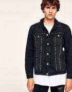 ZARA modna męska czarna kurtka katana jeansowa XL