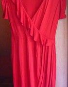 czerwona sukienka ZARA rozmiar M