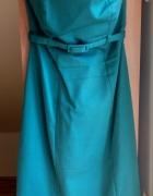 sukienka tuba butelkowa zieleń S 36 dopasowana