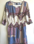 Sukienka h&m boho letnia aztec wzory 38 M