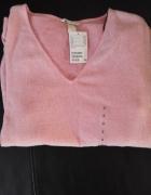różowy sweter oversize H&M nowy mięciutki...