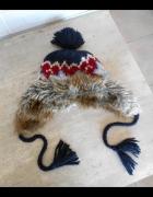 Cubus czapka uszatka zimowa norweskie wzory...