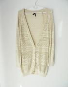 Ażurowy długi sweterek M L