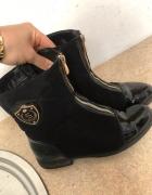 Czarne botki buty zimowe