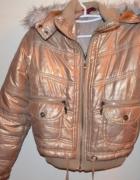 Złota kurtka z kożuszkiem